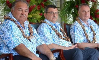Philippe Germain a assisté à la cérémonie d'ouverture dans la tribune officielle, aux côtés des représentants des pays membres du FIP.