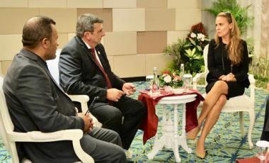 Philippe Germain et Didier Poidyaliwane bénéficient d'un soutien de poids : celui de Dona Bertarelli et John Kerry.