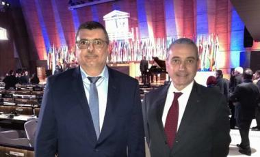 Philippe Germain et Laurent Stefanini, délégué permanent de la France auprès de l'Unesco.