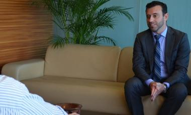 Tomas Mateo Goyet, nouvelle figure de l'Europe à Nouméa.