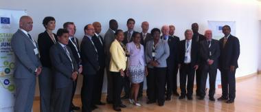 Peggy Roudaut (2ème à droite) au Sommet des Ministres de l'Energie des PTOM du 15 et 16 juin 2015