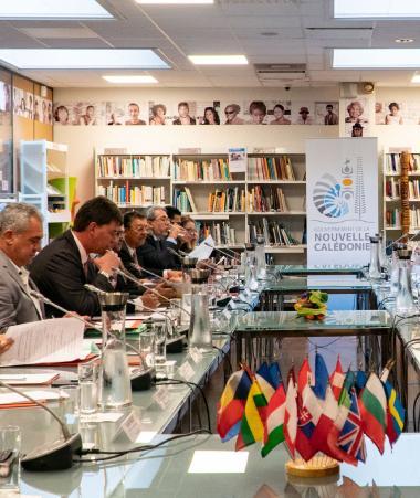 La ministre des Outre-mer Annick Girardin a ouvert les travaux du 14e comité de suivi sur le partenariat entre l'Union européenne et les pays et territoires d'Outre-mer (PTOM) français (photos : Maison de la Nouvelle-Calédonie).
