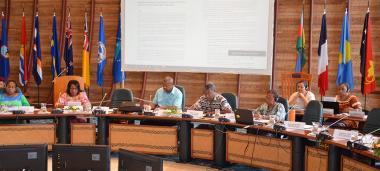 Jean-Pierre Djaïwé, New Caledonia's  Minister for in charge of Environmental Issues, had the honor of reading the Vemööre Declaration, from the Headquarters of the Pacific Community in Nouméa.