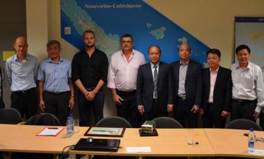 La rencontre avec la délégation vietnamienne s'est déroulée le 10 janvier en présence de Philippe Germain et de Nicolas Metzdorf, membre du gouvernement chargé de la pêche.