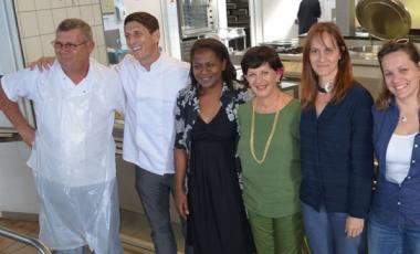 Les acteurs du projet étaient rassemblés dans le réfectoire du collège de Normandie.