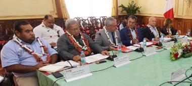 Representatives from Wallis and Futuna, French Polynesia and New Caledonia at the Pacific Fund's Executive Committee