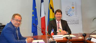 Thierry Santa and Jean-Louis d'Anglebermes represented New Caledonia at the 9th Pacific Islands Leaders Summit (PALM* 9).