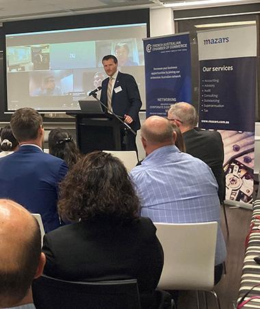 En présentiel ou par visio-conférence, de nombreux entrepreneurs ont participé à l'évènement organisé à Brisbane.