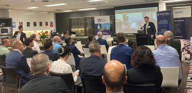 In person or by videoconference, many entrepreneurs participated in the event organized in Brisbane.