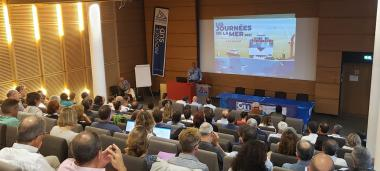 The president of the maritime cluster of New Caledonia, Philippe Darrason opened the 5th edition of the Journées de la mer (photos Emma Colombin/CMNC).