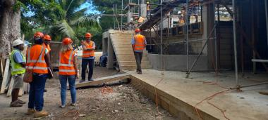 The construction of the National University of Vanuatu is in full swing. It is financed by the AFD, the Government of Vanuatu and the Government of New Caledonia, notably, as a part of the tripartite agreement.