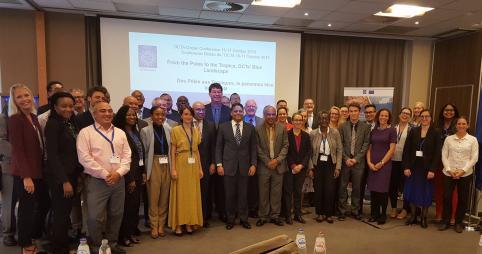 Les représentants des PTOM à l'issue de la Conférence sur les océans.