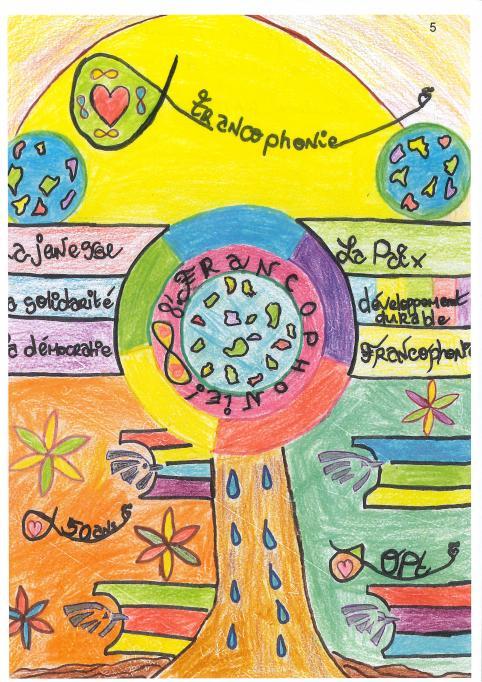 Le dessin de Pascaline Kaïchou, récompensé par le prix de la Francophonie, illustrera une enveloppe premier jour.