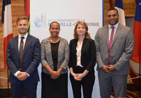 Les nouveaux délégués : Alexandre Lafargue, Rose Wete, Cécilia Madeleine et Gaston Wadrawene.