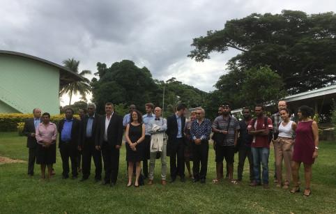 La délégation calédonienne a visité le site de la future université nationale bilingue du Vanuatu, en partie financée par l'AFD et la Nouvelle-Calédonie.