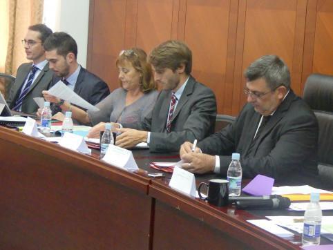 La délégation calédonienne lors de la commission mixte.