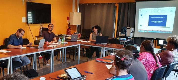 Des ateliers de sensibilisation au programme Erasmus+ se sont tenus à Lifou le 26 juin.