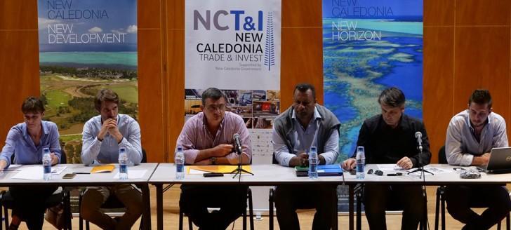 Philippe Germain, Didier Poidyaliwane, Sébastien Sarramegna de NCT&I (2e à d.) et le service de la Coopération régionale ont animé la restitution de la mission du gouvernement en Papouasie Nouvelle-Guinée.