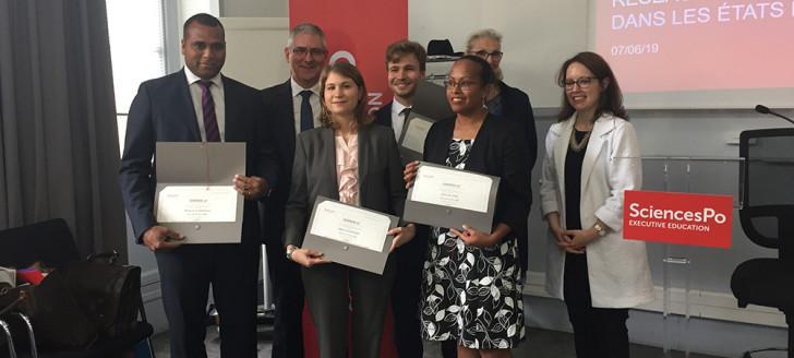 Gaston Wadrawane, Cécilia Madeleine, Alexandre Lafargue et Rose Wete, les quatre nouveaux délégués de la Nouvelle-Calédonie, ont reçu leurs certificats de formation.